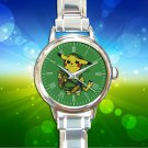 cute Pokemon Pikachu Zelda round charm watches stainless steel