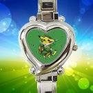 cute Pokemon Pikachu Zelda hearts logo heart charm watches stainless steel