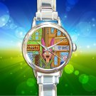 cute Bobs Burgers Louise Belcher Collage round charm watches stainless steel
