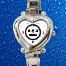 cute Hieroglyphics Logo rap hip hop hearts logo heart charm watches stainless steel