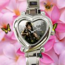 cute walking dead season zombie daryl dixon hearts logo heart charm watches stainless steel