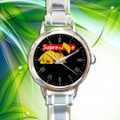cute pokemon Pikachu Supreme round charm watches stainless steel