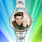 cute Zac Efron round charm watches stainless steel