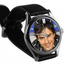 cool ian somerhalder vampire diaries damon salvatore smile leather silver Wristwatches