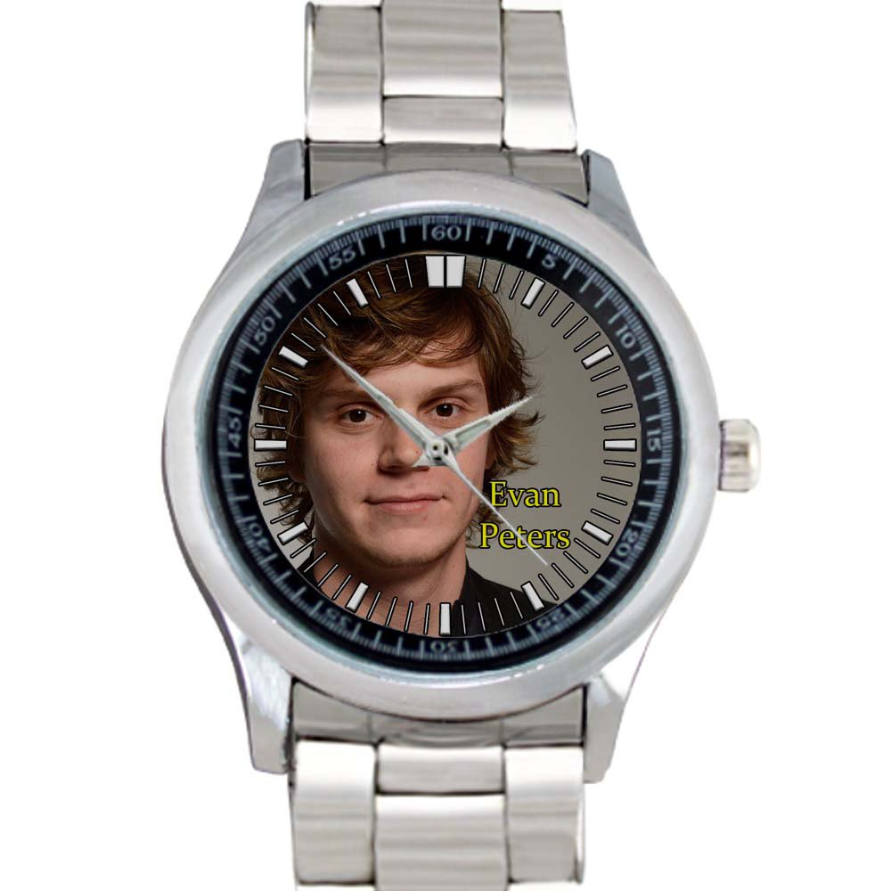 cool evan peters signature Stainless Steel Wristwatches