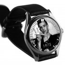 cool matt healy the 1975 leather silver Wristwatches