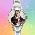 cute eminem berzerk album hip hop round charm watches stainless steel