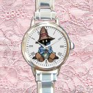 cute Vivi Final Fantasy round charm watches stainless steel