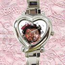 cute Kendrick Lamar & J Cole heart charm watches stainless steel
