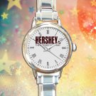 cute Hershey's Chocolate round charm watches stainless steel