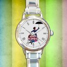 cute Mary Poppins vintage round charm watches stainless steel