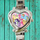 cute little pony friendship is magic cute heart charm watches stainless steel