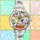 cute friends collage art f.r.i.e.n.d.s round charm watches stainless steel