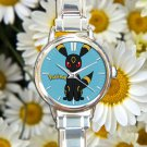 cute pokemon umbreon round charm watches stainless steel