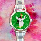 cute Foghorn Leghorn chicken hawk round charm watches stainless steel