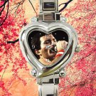 cute queen freddy mecury band heart charm watches stainless steel
