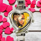 cute Jason Derulo tattoos art heart charm watches stainless steel