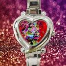 cute tupac shakur 2pac RIP heart charm watches stainless steel