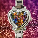 cute Five Nights at Freddy's heart charm watches stainless steel