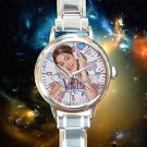 cute Violetta TV Actress Martina Stoessel round charm watches stainless steel