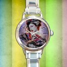 cute Geisha Girl Designs round charm watches stainless steel