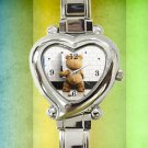 cute Funny Ted Stoner Bear Movie heart charm watches stainless steel