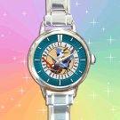 cute Regular Show Mordecai and Rigby oooohhh round charm watches stainless steel