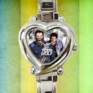 cute teen wolf season Tyler Posey heart charm watches stainless steel