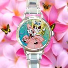 cute Spongebob patrick quote best friend forever BFF round charm watches stainless steel