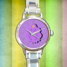 cute adventure time lumpy space round charm watches stainless steel