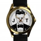 cool justin timberlake mirrors 20 I 20 leather gold Wristwatches