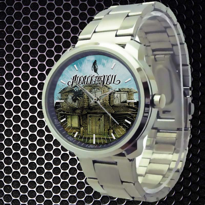 cool pierce the veil Vic mike Fuentes Stainless Steel Wristwatches