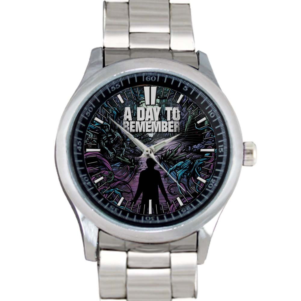 cool A DAY TO REMEMBER Rock Common Courtesy Band Stainless Steel Wristwatches