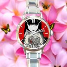 cute Emily the Strange TAILLENband round charm watches stainless steel