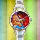 cute sleeping beauty princess aurora round charm watches stainless steel
