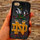 "notre dame fighting irish fit for iphone 6 4.7"" black case cover"