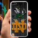 notre dame fighting irish fit for ipod touch 5 white case cover