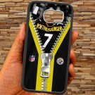 pittsburgh steelers roethlisberger fit for samsung galaxy S6 S 6 S VI edge black case cover