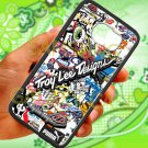 troy lee design stickerbomb motocross supercross fit for samsung galaxy S6 S 6 S VI black case cover