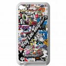troy lee design stickerbomb motocross supercross fit for ipod touch 4 white case cover