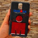 triathlon logo ironman leather pattern fit for samsung galaxy note 3 black case cover