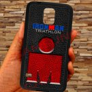 triathlon logo ironman leather pattern fit for samsung galaxy note 4 black case cover