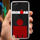 triathlon logo ironman leather pattern fit for ipod touch 5 white case cover