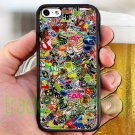 "sticker bomb racing ghostbusters subaru fit for iphone 6 4.7"" black case cover"