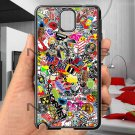 sticker bomb racing ghostbusters subaru fit for samsung galaxy note 3 black case cover