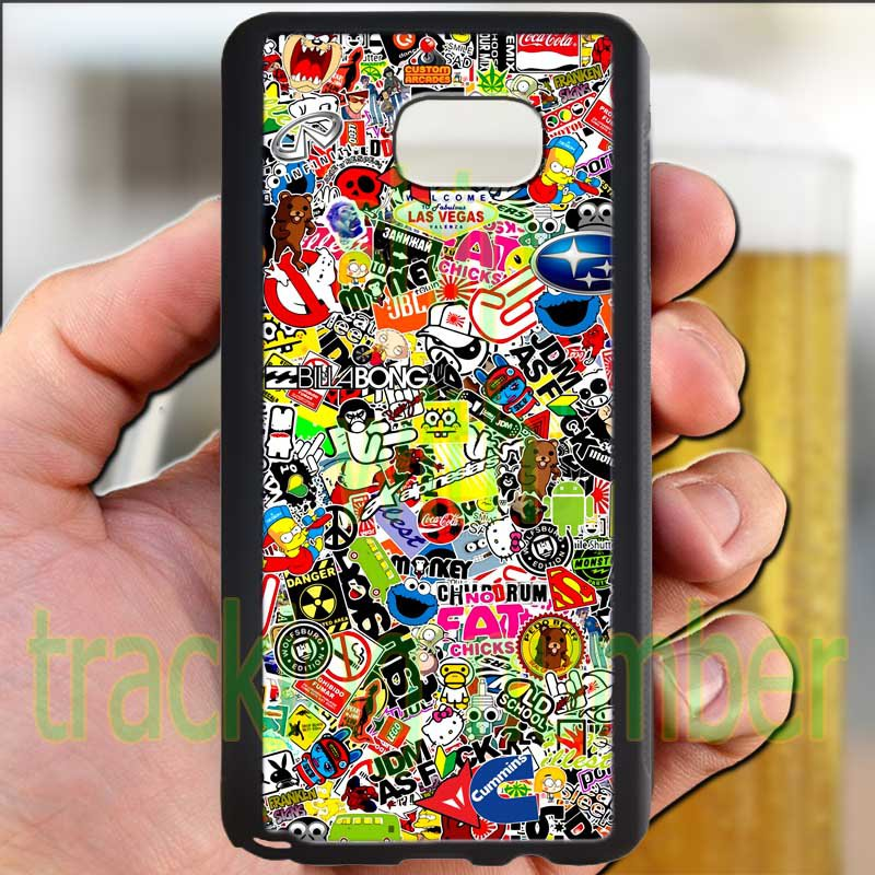 sticker bomb racing ghostbusters subaru fit for samsung galaxy S6 S 6 S VI edge+ black case cover
