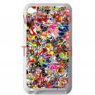 sticker bomb racing ghostbusters subaru fit for ipod touch 4 white case cover