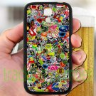 sticker bomb racing ghostbusters subaru fit for samsung galaxy S4 S 4 S IV black case cover