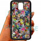sticker bomb racing ghostbusters subaru fit for samsung galaxy S5 S 5 S V black case cover