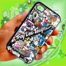 troy lee design stickerbomb motocross supercross fit for ipod touch 6 white case cover